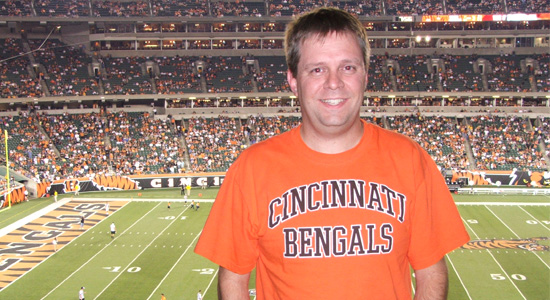 Me at the Bengals game