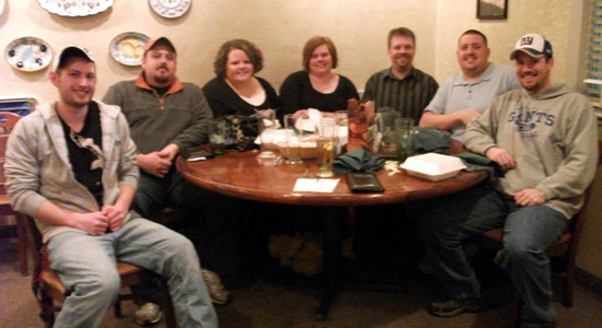 Greg, Scott, Mindy, Crissy, Me, Derek and Shawn