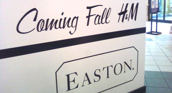 H&M coming this fall to Easton
