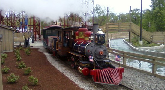 Cedar Point and Lake Erie Railroad at Shoot the Rapids