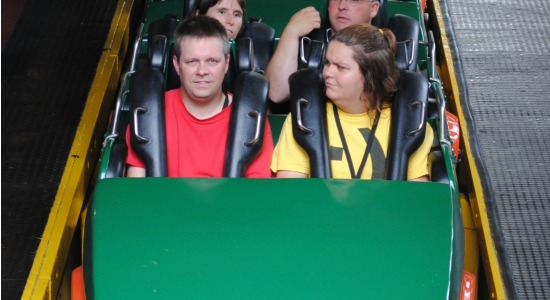 Me and Sarah on Loch Ness Monster