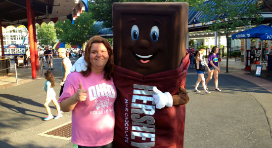 Sarah and The Hershey's Chocolate Bar