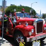 Big Red Shiny Mack Fire Engine