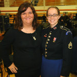 Sarah and SSG Adrienne Hodges